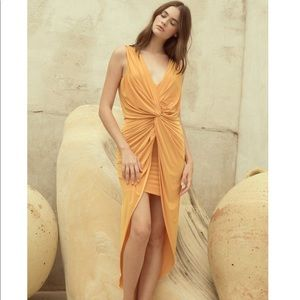 Misa Los Angeles Leza Maxi Dress | XS | Mustard